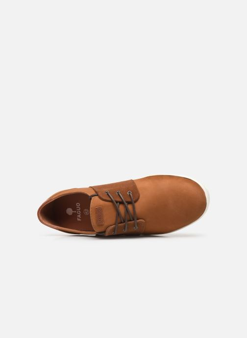 Baskets Faguo Cypress Leather Suede C Marron vue gauche