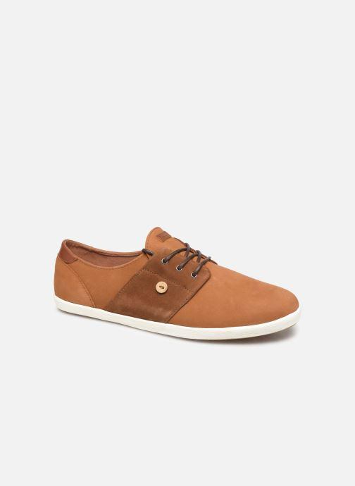 Baskets Faguo Cypress Leather Suede C Marron vue détail/paire