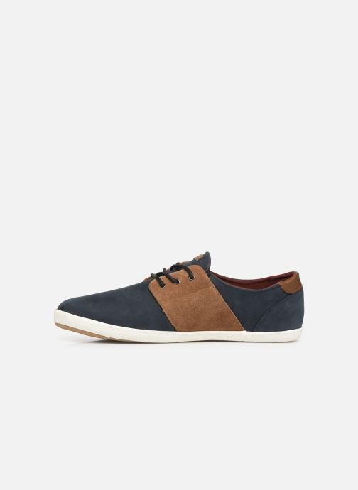 Trainers Faguo Cypress Leather Suede C Blue front view
