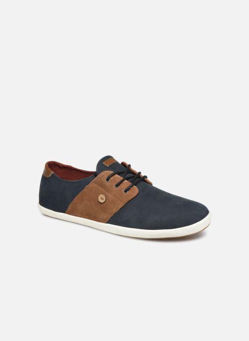 Baskets Faguo Cypress Leather Suede C Bleu vue détail/paire