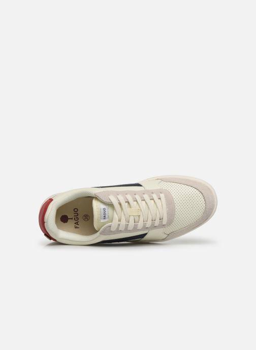 Baskets Faguo Hazel Leather C Blanc vue gauche