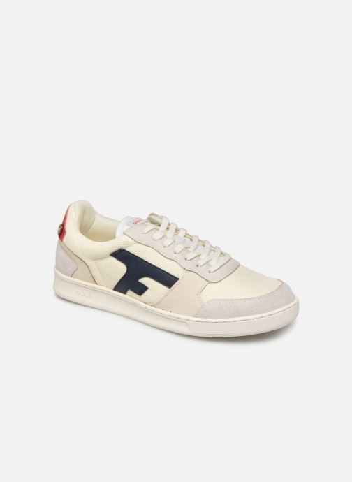 Baskets Faguo Hazel Leather C M Blanc vue détail/paire