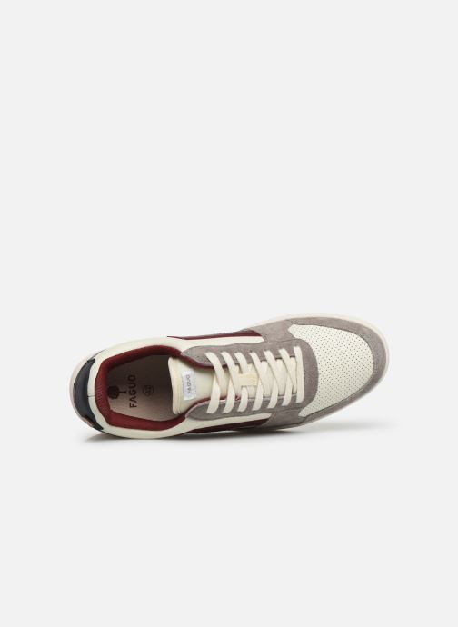 Baskets Faguo Hazel Leather C M Blanc vue gauche