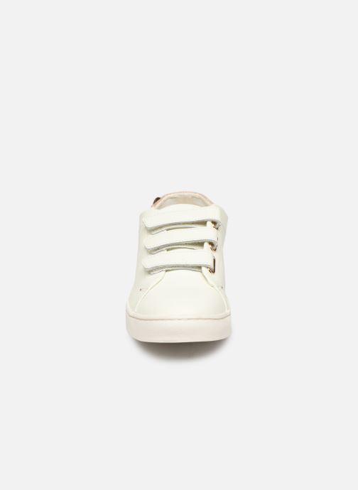 Baskets Faguo Aspenlows Leather C Blanc vue portées chaussures