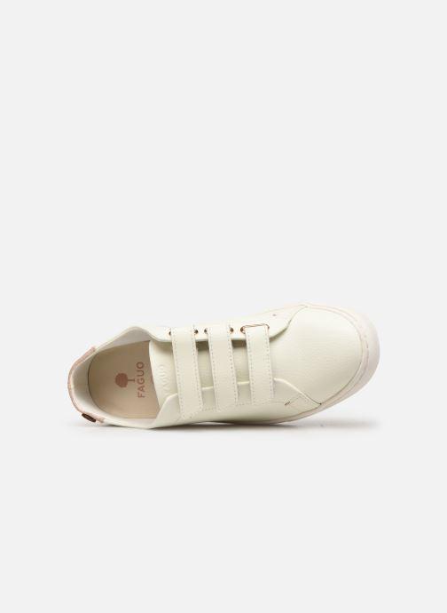 Baskets Faguo Aspenlows Leather C Blanc vue gauche