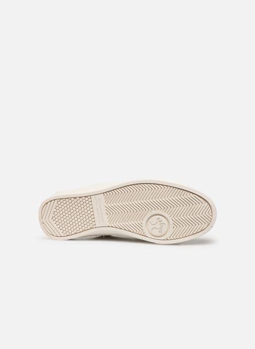 Baskets Faguo Aspenlows Leather C Blanc vue haut