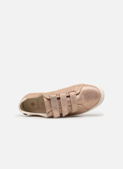 Sneakers Faguo Aspenlows Suede Goud en brons links