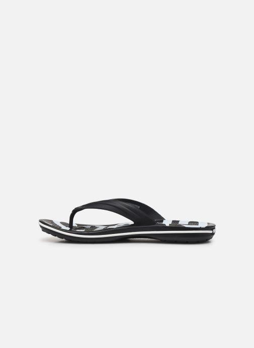 Zehensandalen Crocs Crocband Printed Flip M schwarz ansicht von vorne