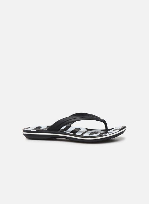 Zehensandalen Crocs Crocband Printed Flip M schwarz ansicht von hinten
