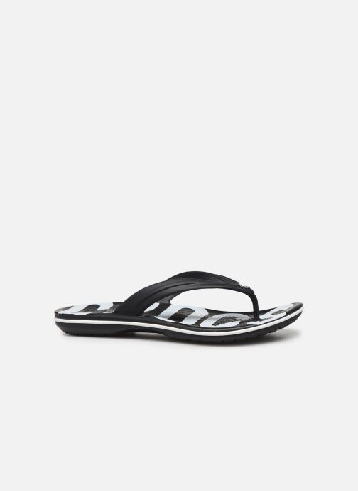 Tongs Crocs Crocband Printed Flip M Noir vue derrière