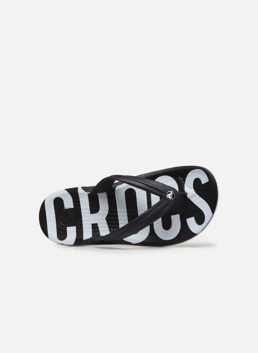 Zehensandalen Crocs Crocband Printed Flip M schwarz ansicht von links