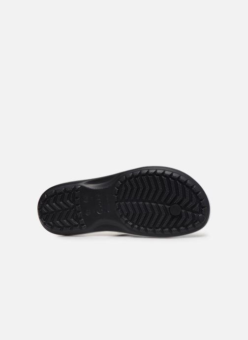 Zehensandalen Crocs Crocband Printed Flip M schwarz ansicht von oben