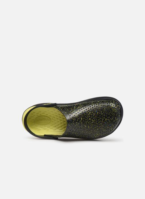 Sandalias Crocs LiteRide Hyper Bold Clog Negro vista lateral izquierda