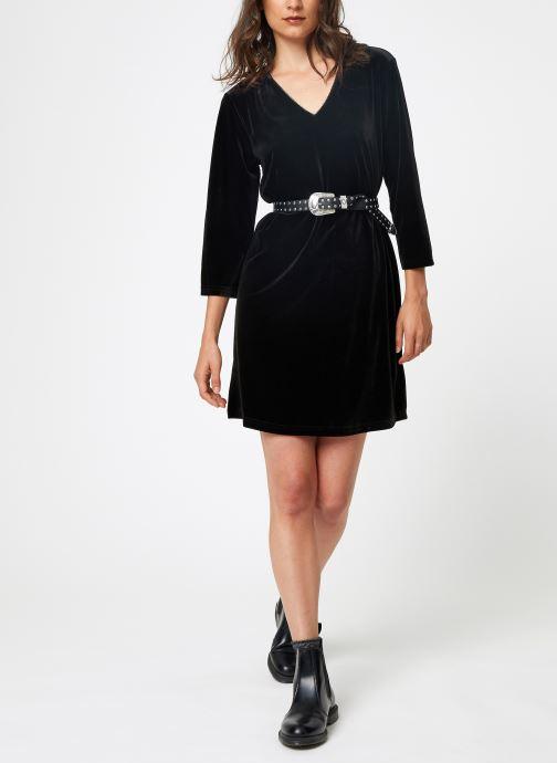 Vêtements School Rag RUIZ VELVET Noir vue bas / vue portée sac