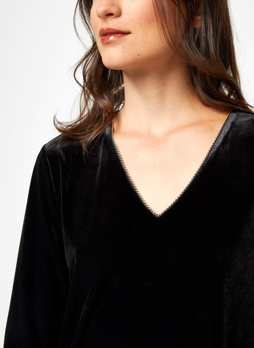 Vêtements School Rag RUIZ VELVET Noir vue face