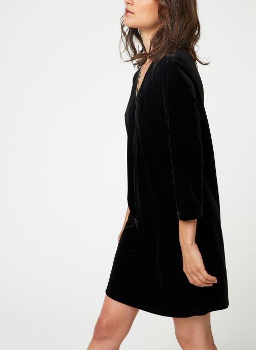 Vêtements School Rag RUIZ VELVET Noir vue droite