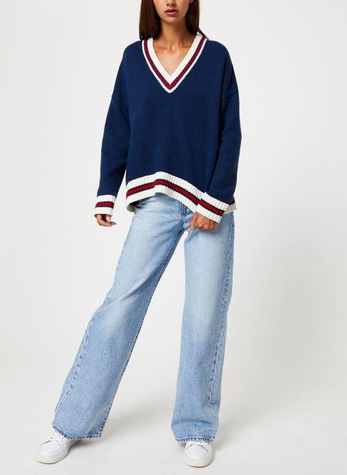 Vêtements School Rag PALAVA Bleu vue bas / vue portée sac