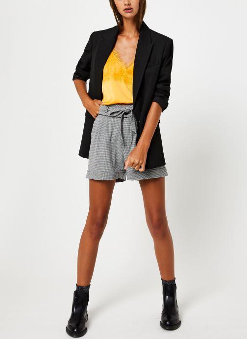 Vêtements School Rag THEINA Jaune vue bas / vue portée sac