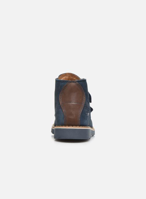 Zapatos con cordones Primigi PTE 44202 Azul vista lateral derecha