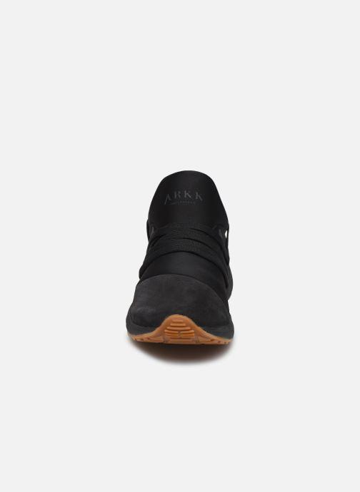 Sneaker ARKK COPENHAGEN Raven Nubuck schwarz schuhe getragen
