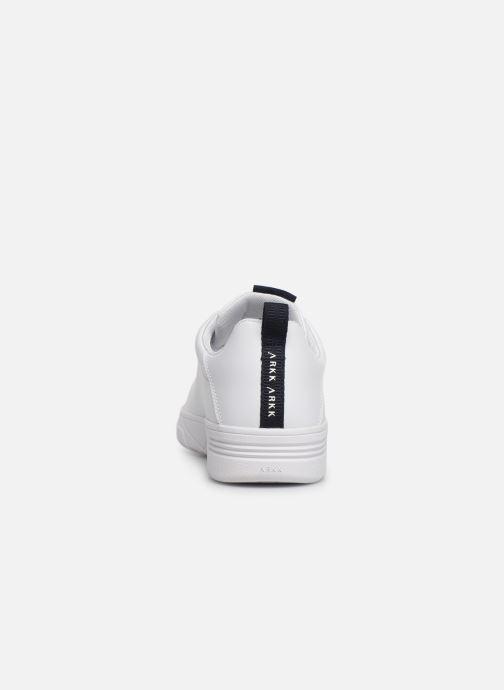 Baskets ARKK COPENHAGEN Uniklass Leather Blanc vue droite