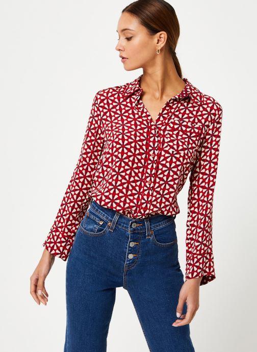Vêtements Stella Forest CHEMISE LARGE LOTUS Rouge vue détail/paire