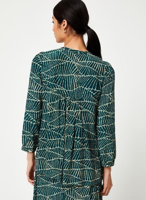 Vêtements Stella Forest CHEMISE FRONCEE HOJA Vert vue portées chaussures
