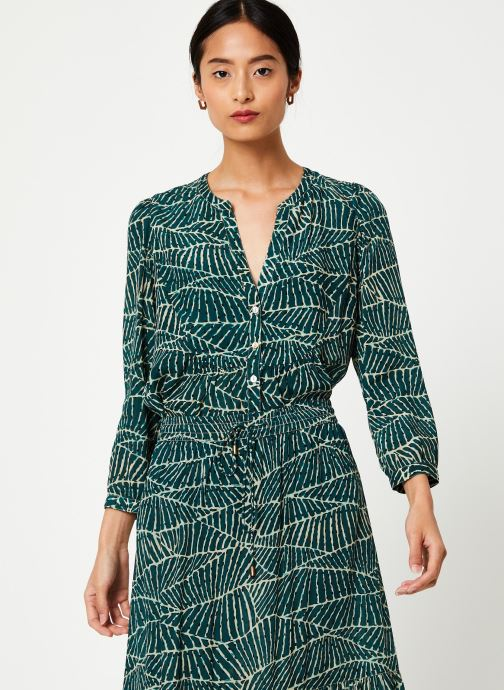 Vêtements Stella Forest CHEMISE FRONCEE HOJA Vert vue droite