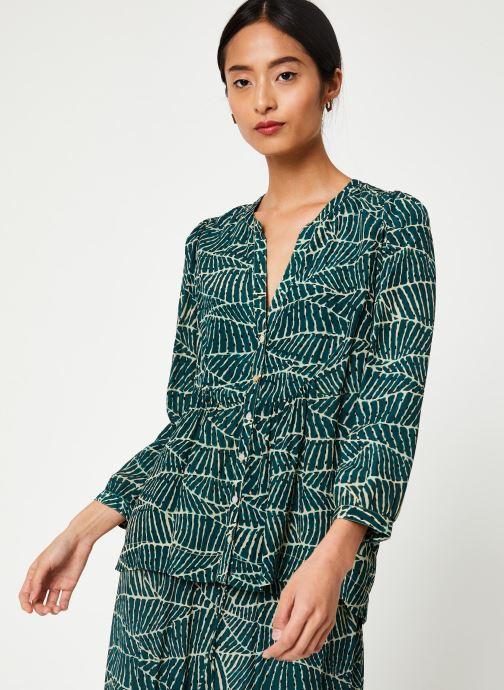 Vêtements Stella Forest CHEMISE FRONCEE HOJA Vert vue détail/paire