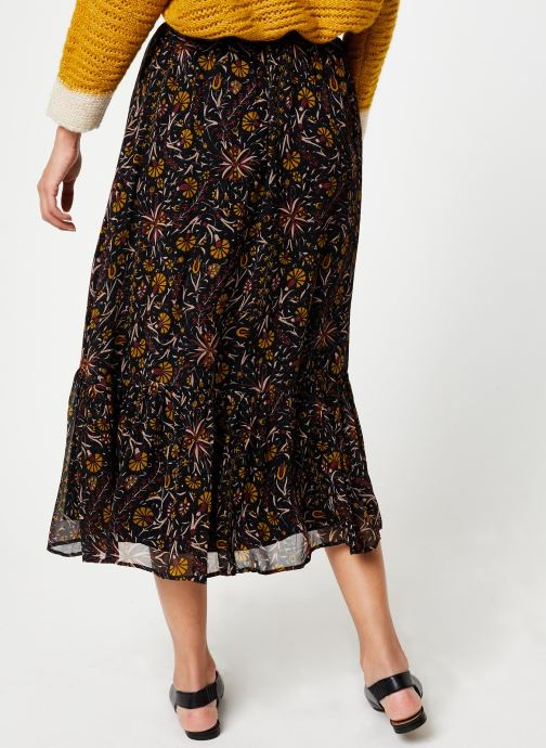 Vêtements Stella Forest JUPE MIDI FLORE Multicolore vue portées chaussures