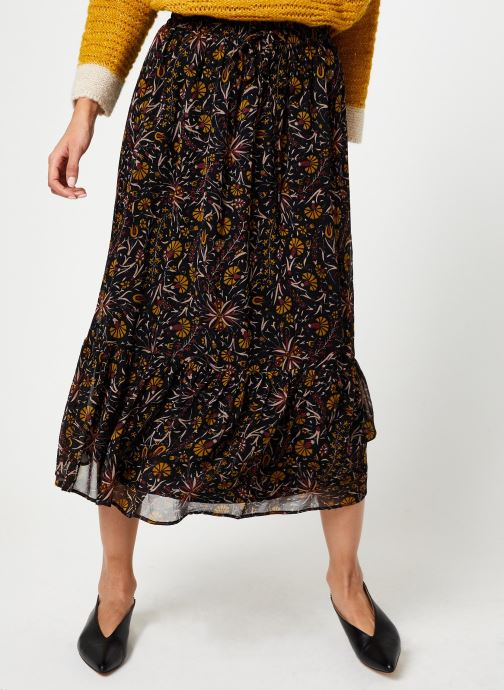 Vêtements Stella Forest JUPE MIDI FLORE Multicolore vue détail/paire
