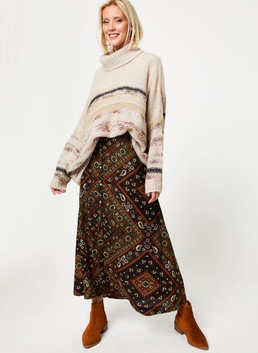 Vêtements Stella Forest JUPE BOUTONNEE MARTHA Vert vue bas / vue portée sac