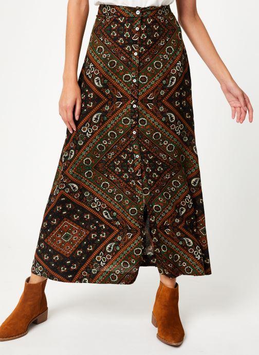 Vêtements Stella Forest JUPE BOUTONNEE MARTHA Vert vue détail/paire