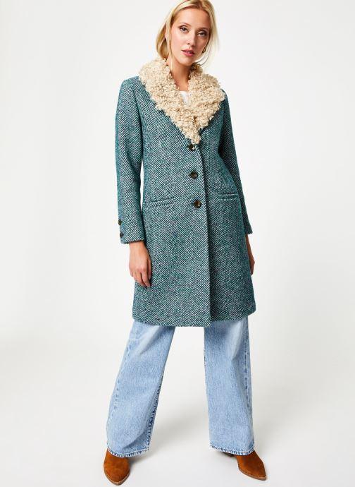 Vêtements Stella Forest MANTEAU CHEVRON MERRY Vert vue bas / vue portée sac