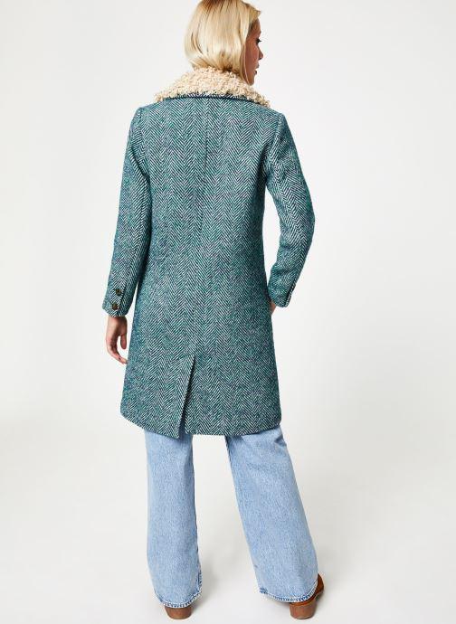 Vêtements Stella Forest MANTEAU CHEVRON MERRY Vert vue portées chaussures