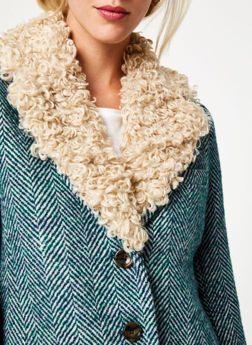 Vêtements Stella Forest MANTEAU CHEVRON MERRY Vert vue face