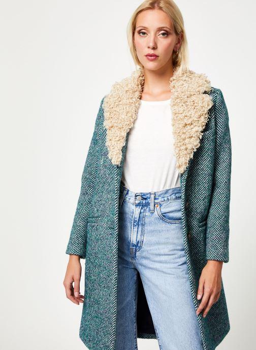 Vêtements Stella Forest MANTEAU CHEVRON MERRY Vert vue droite