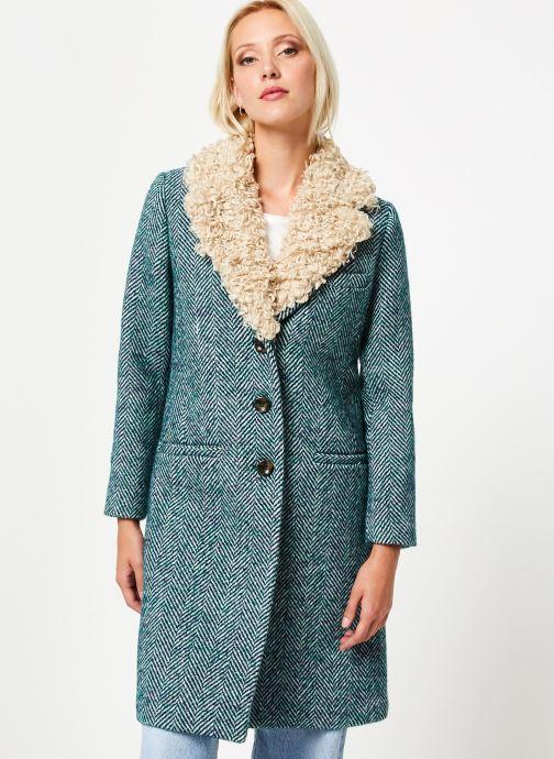Vêtements Stella Forest MANTEAU CHEVRON MERRY Vert vue détail/paire