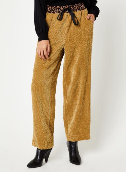 Vêtements Stella Forest PANTALON VELOUR PYJAMA VICTOR Marron vue détail/paire
