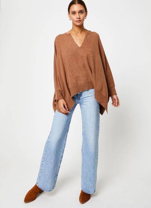 Vêtements Stella Forest PULL LARGE CAROL Marron vue bas / vue portée sac