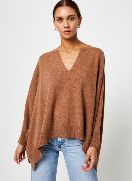 Vêtements Stella Forest PULL LARGE CAROL Marron vue détail/paire