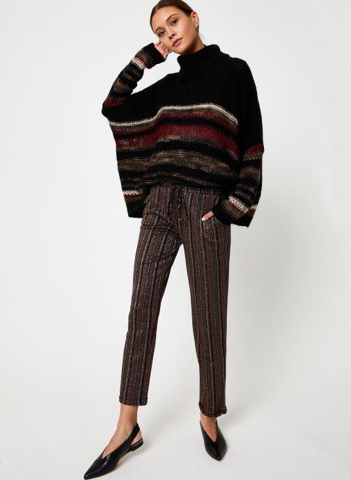 Vêtements Stella Forest PULL COL ROULE RECTANGLE TAMMY Noir vue bas / vue portée sac