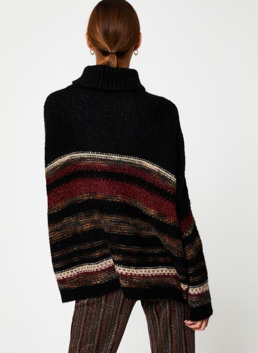 Vêtements Stella Forest PULL COL ROULE RECTANGLE TAMMY Noir vue portées chaussures