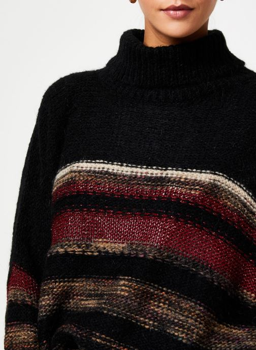 Vêtements Stella Forest PULL COL ROULE RECTANGLE TAMMY Noir vue face