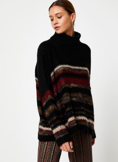 Vêtements Stella Forest PULL COL ROULE RECTANGLE TAMMY Noir vue droite