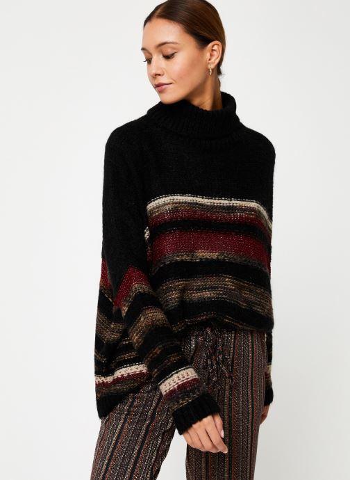 Vêtements Stella Forest PULL COL ROULE RECTANGLE TAMMY Noir vue détail/paire
