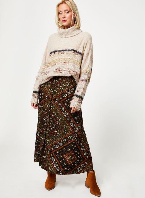 Vêtements Stella Forest PULL COL ROULE RECTANGLE TAMMY Blanc vue bas / vue portée sac