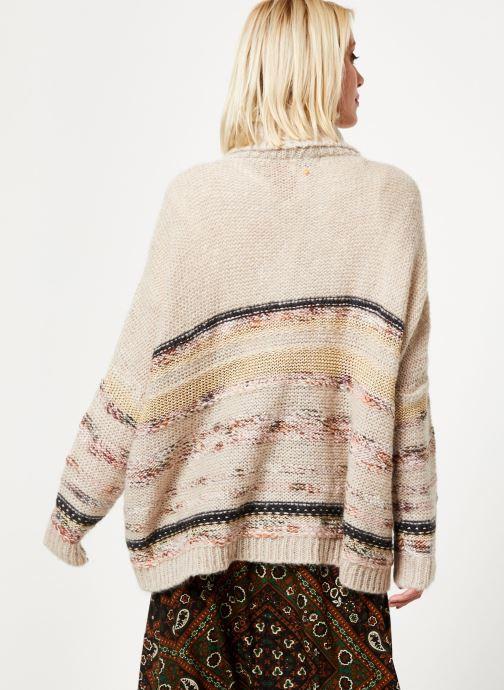 Vêtements Stella Forest PULL COL ROULE RECTANGLE TAMMY Blanc vue portées chaussures
