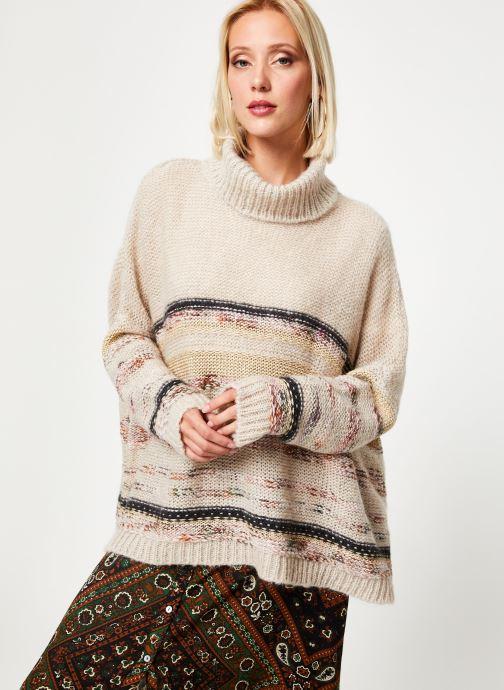 Vêtements Stella Forest PULL COL ROULE RECTANGLE TAMMY Blanc vue détail/paire