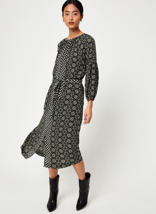 Vêtements Stella Forest ROBE MIDI LOTUS Vert vue bas / vue portée sac
